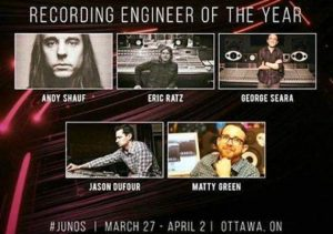 OIART Grads nominated for JUNO Awards