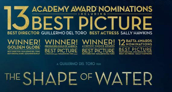 Congrats to OIART grad Paul Gosse for his sound recording work on The Shape of Water!